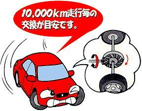 10,000km走行毎の交換が目安です。
